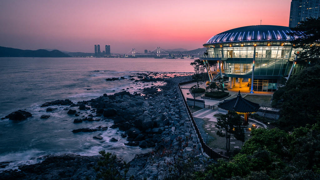 The blue hour, Busan, South Korea picture