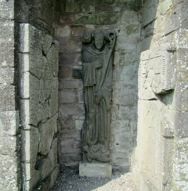 Dundrennan Abbey ,Carved Figure