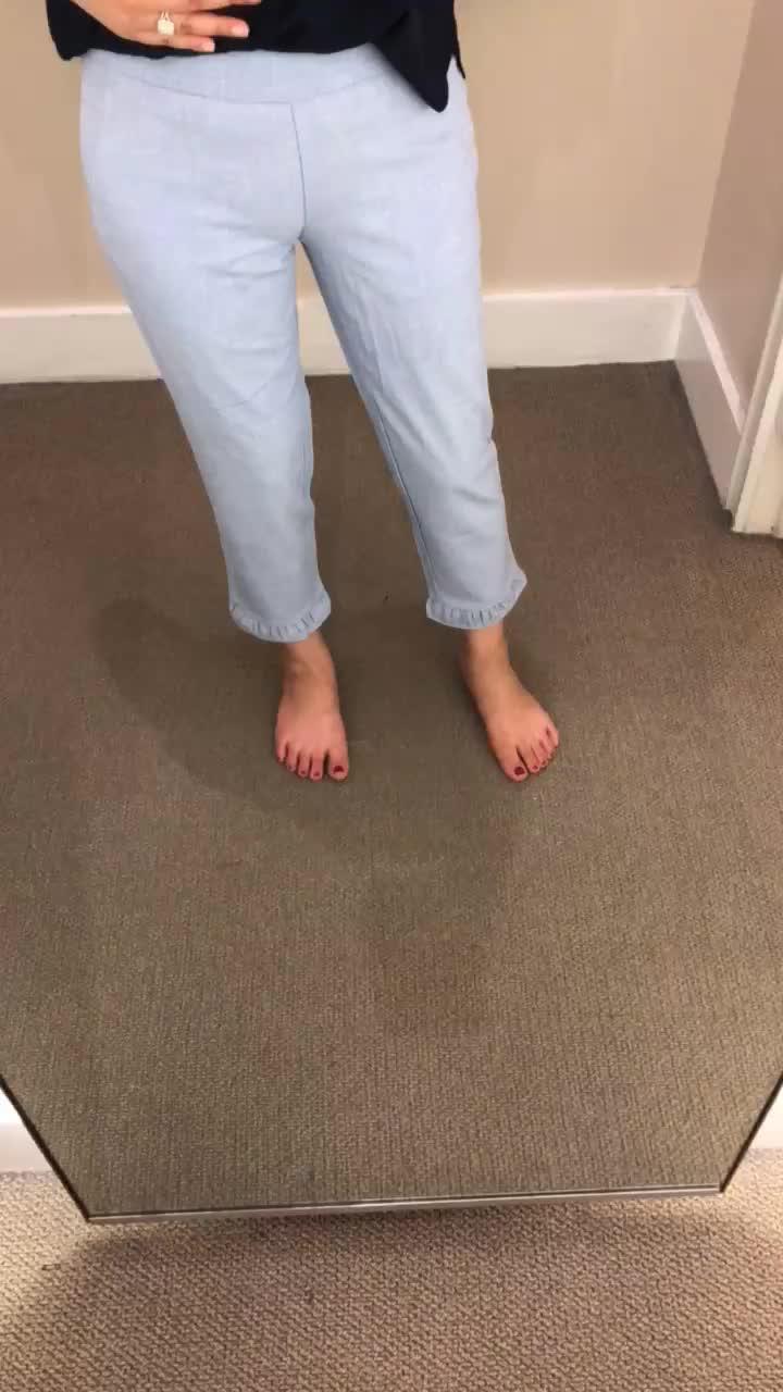 LOFT Slim Ruffle Pants, size 0P