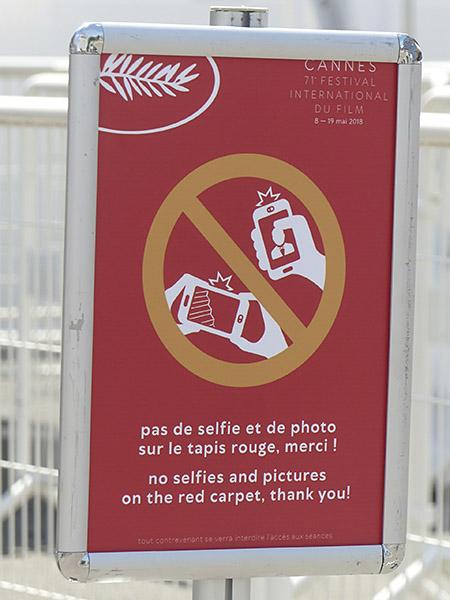pas de selfie
