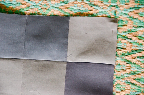 9. Use a pin to indicate the upper -right corner of the quadrant block, so you don't have tor re-figure it out later!