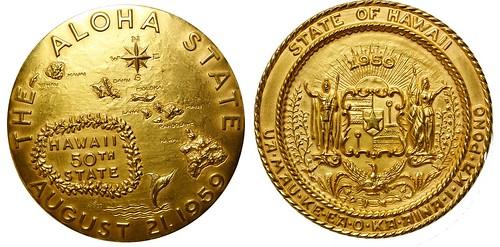 Gold Hawaii Statehood Medal