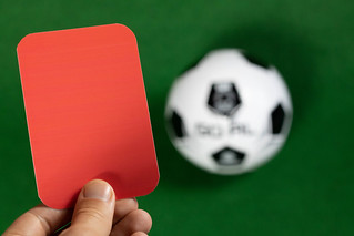 The referee in red card gesture | by wuestenigel