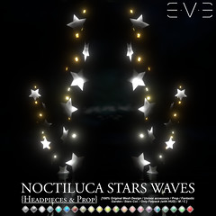 E.V.E Noctiluca Stars Waves {Headpieces and Prop}