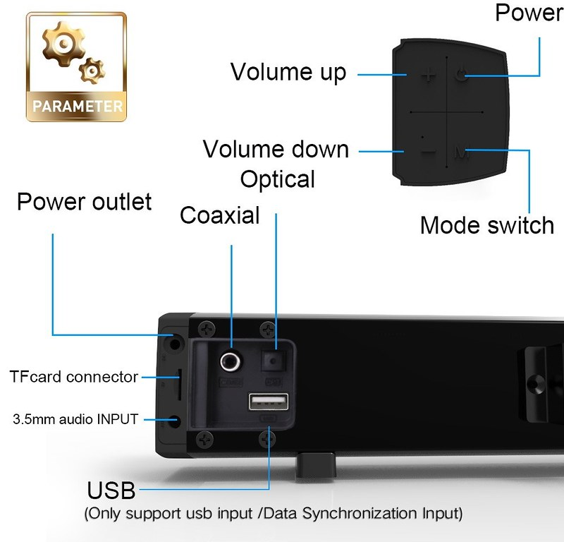 LP-09 Sound Bar Subwoof BT Speaker (17)