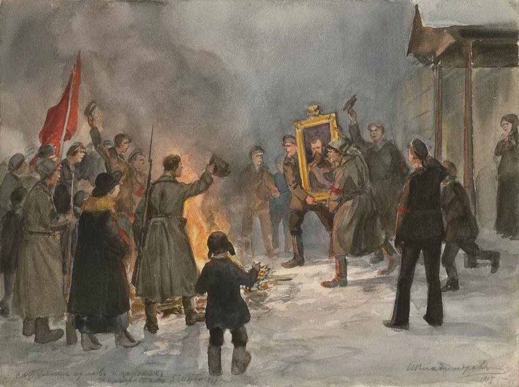 俄国内战与革命的写实绘画16