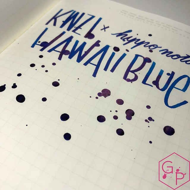 KWZ Ink Hawaii Blue Ink Review 20