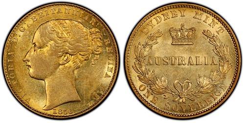 Australia 1856 Sovereign