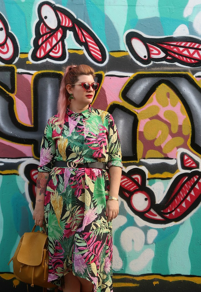 Outfit plus size floreale Monki (10)