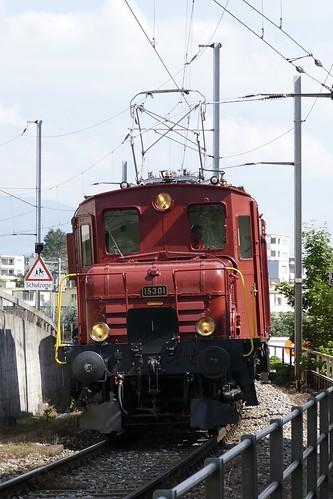Lokomotive De 6/6 15301 Seetalkrokodil Hochdorf Switzerland