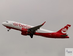 Air Berlin A320-214 D-ABNQ taking off at DUS/EDDL