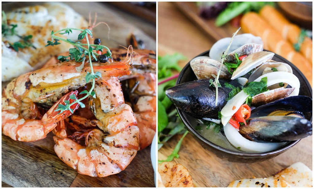 The Seagrill Seafood Platter Collage