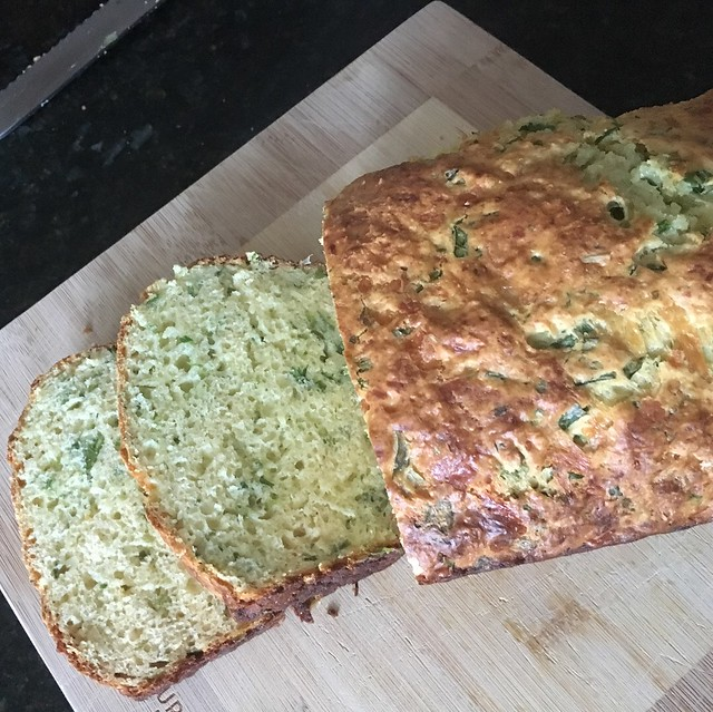 Cheese and chive bread