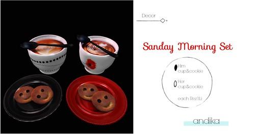 AD andika[ sanday morning ]set-Decor