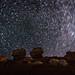 Circumpolar Star Trails over Twin Rocks by HubbleColor {Zolt}