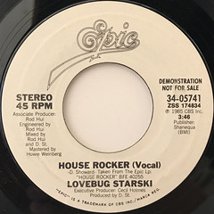 LOVEBUG STARSKI:HOUSE ROCKER(LABEL SIDE-A)