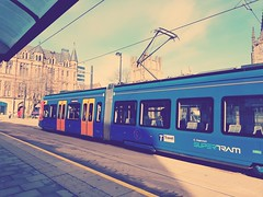 Supertram @ Sheffield Cathedral #tram #travel #travelphotography #publictransport #supertram #stagecoach #sheffield #southyorkshire #england #britain #british #city #streetphotography #citycentre #travelling #travelawesome #rideinstyle #journey