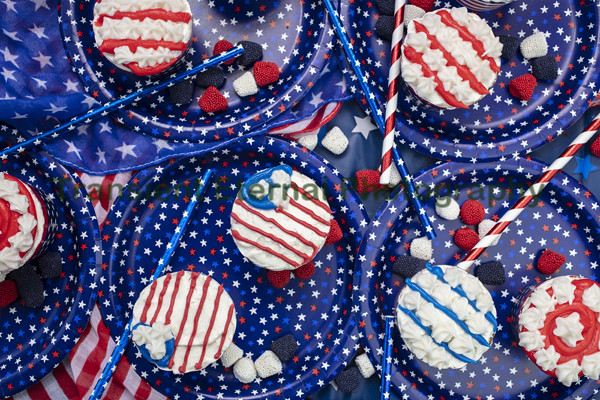 Decorated Cupcakes for the Fourth of July Celebration
