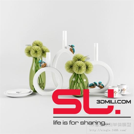 07  Decorative set Sketchup Model Free Download ~ ADA211