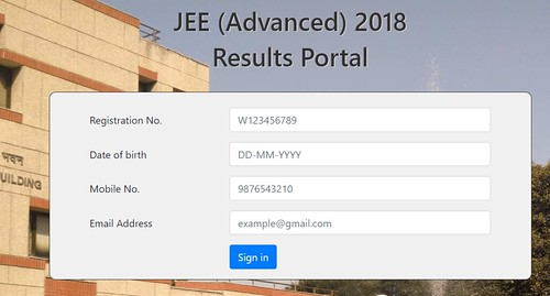JEE Advanced Result Login
