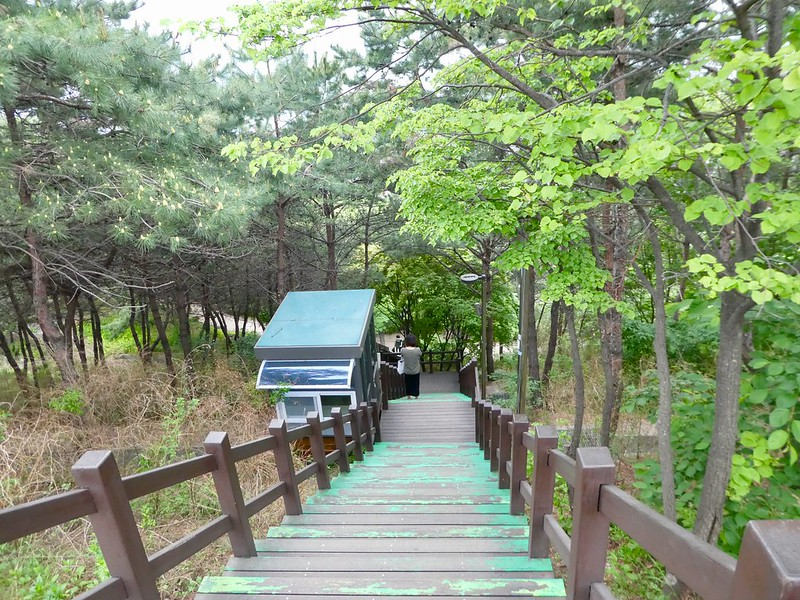 Steps leading up to Naksan Mountain, Seoul