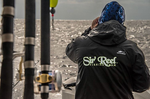 Sir'Reel Fishing Team In Grundens Fishing Rain Gear.