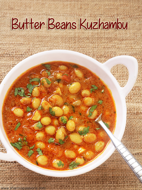 butter beans kuzhambu recipe