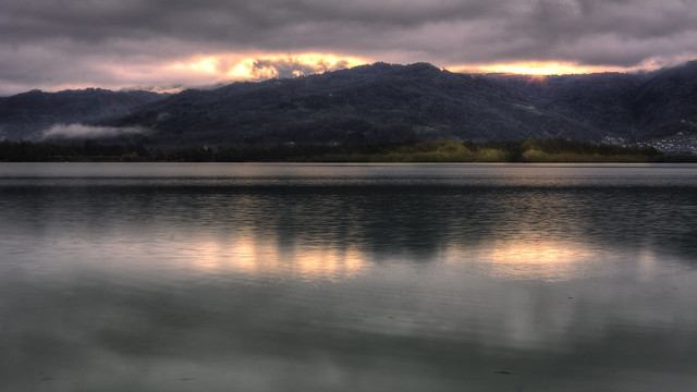 S.ta Croce lake at sunrise