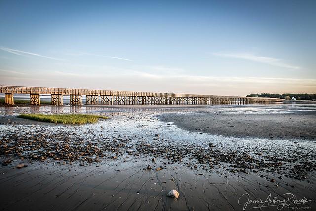 Powder Point Bridge Low Tide Sunset-2-1529204430536