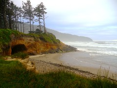 Beach in the day use area at Cape Lookout State Park