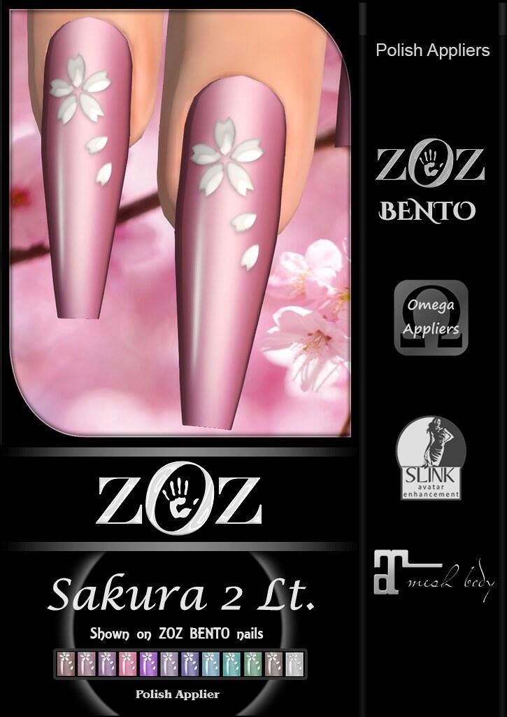 {ZOZ} Sakura 2 Lt pix bento L