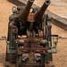 Rusting Anti aircraft gun at Tilbury Fort, Essex, Uk