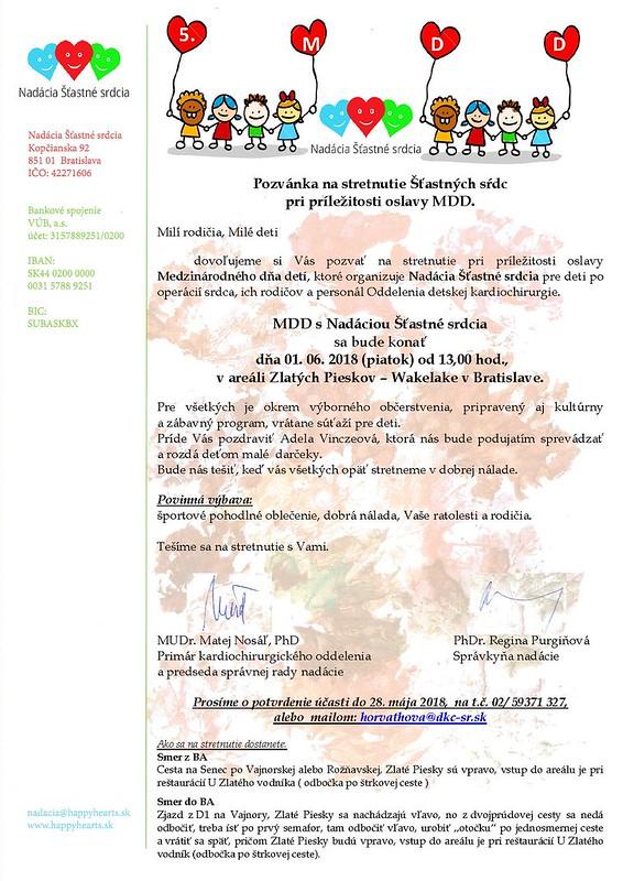 Pozvanka na MDD 2018