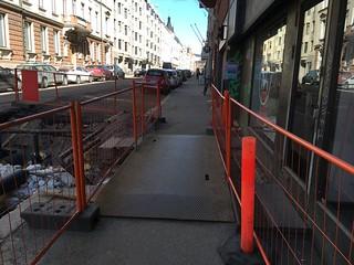 Temporary sidewalk