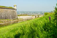 Fortification entourée d'eau avec système de remplissage avec ouverture vers la mer...