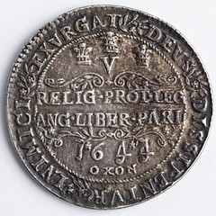Charles i Oxford crown reverse