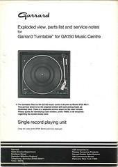 Garrard TechEng Service Manual GA150 Turntable
