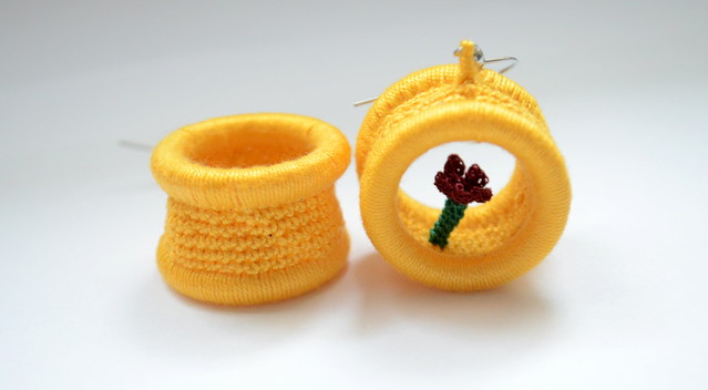 Little flower - Crochet earrings