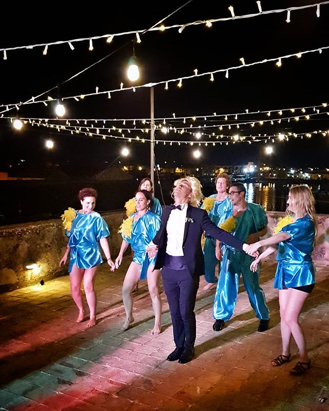 That's a party #wedding #party #dance #lights #night #fun #marzamemi #sicily #igers #igersitalia #happy #beccacimmi #beccacimmiwedding