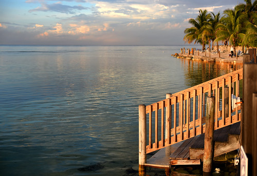 water ocean caribbeansea steps wooden woodensteps palmtrees clouds sunset ripples reflections tranquilty serenity peaceful quiet mobay montegobay jamaica westindies caribbean lovely pretty beautiful gorgeous