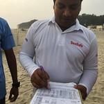 Imteaz checks the SeaSafe schedule Cox