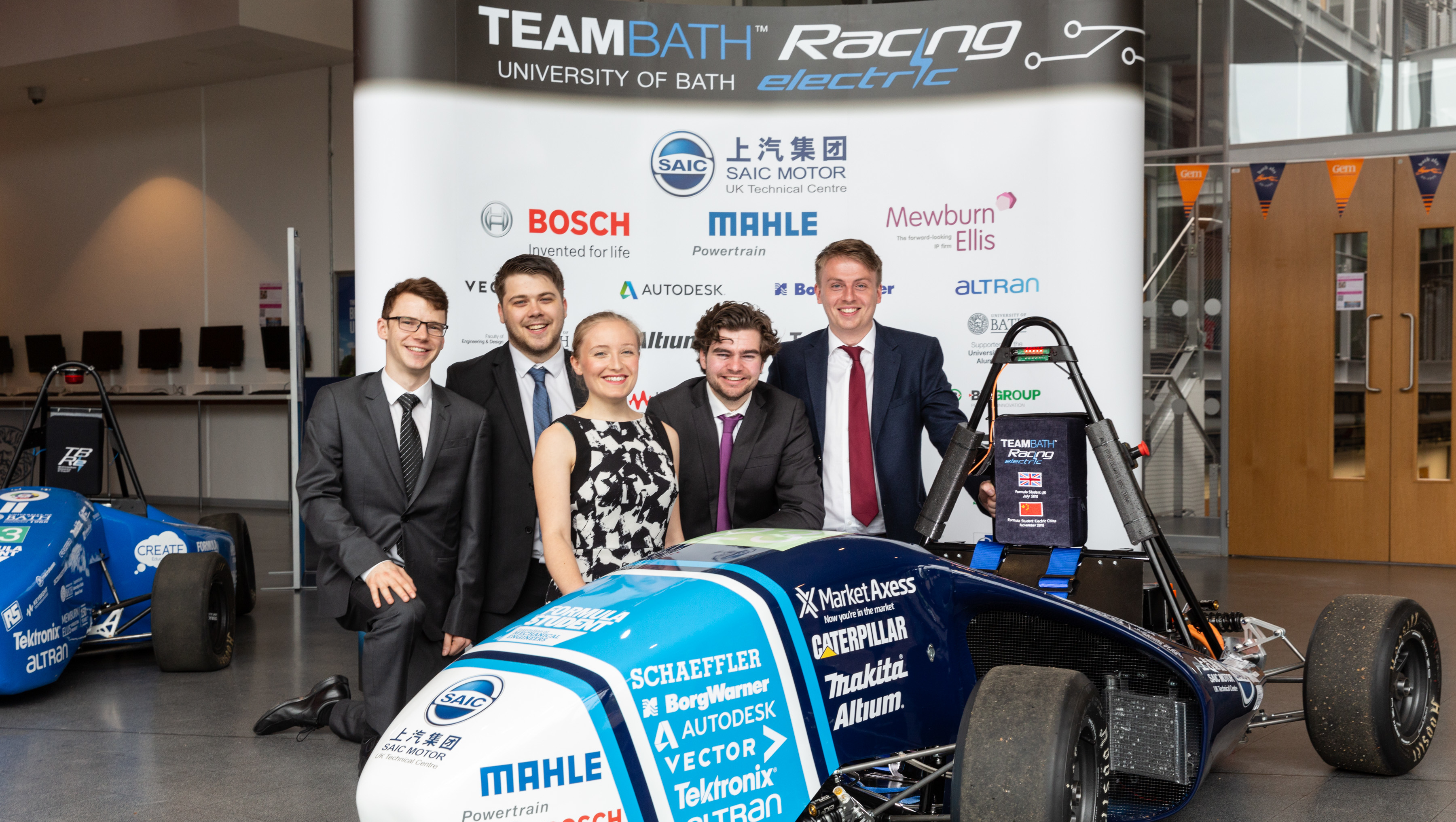 Team Bath Racing electric launch their 2018 car ahead of this year's Formula Student competition.