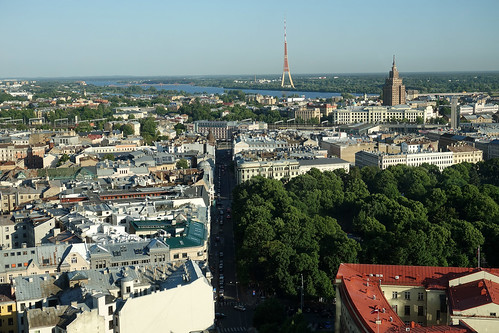 rooftop view of Riga