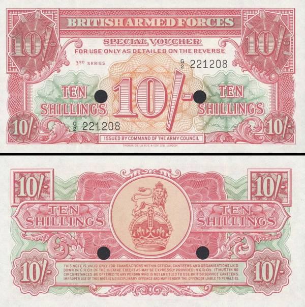 10 Shilling Veľká Británia 1956, M28b