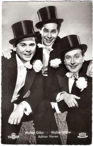 Walter Giller, Adrian Hoven and Walter Müller in Die Drei von der Tankstelle (1955)
