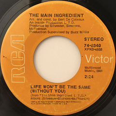 THE MAIN INGREDIENT:YOU'VE BEEN MY INSPIRATION(LABEL SIDE-B)