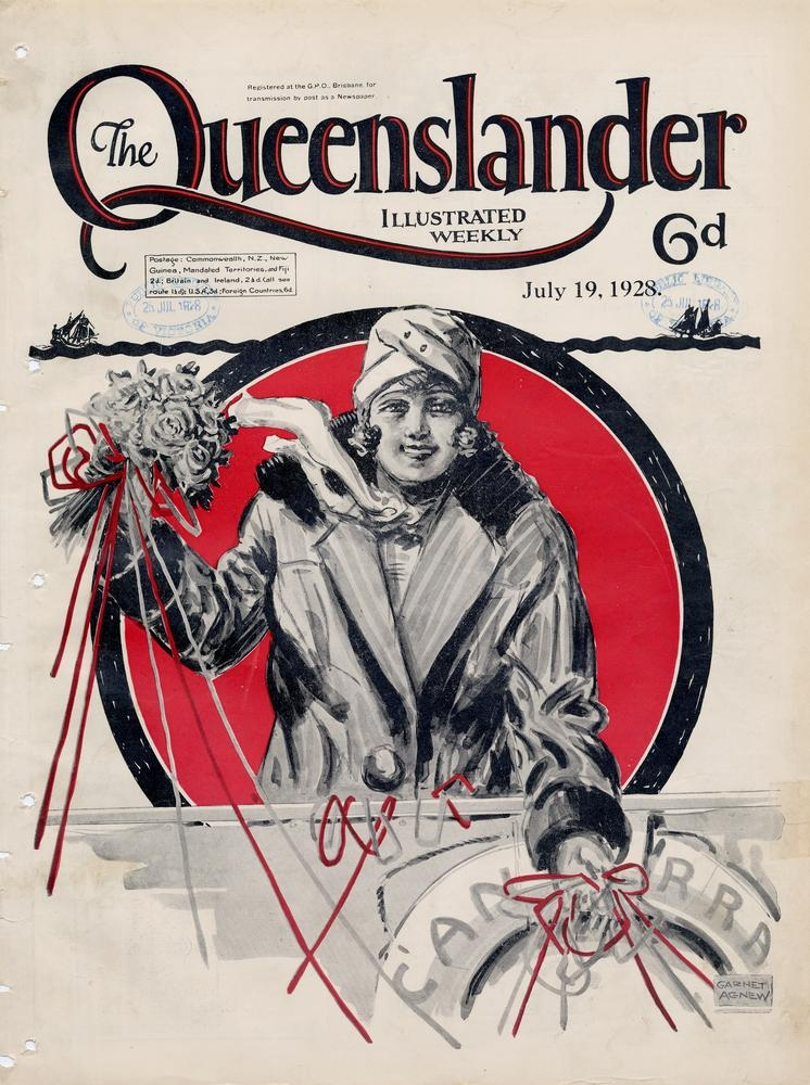 Illustrated front cover from The Queenslander, July 19, 1928