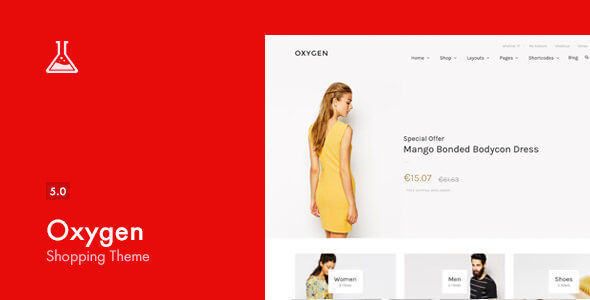 Oxygen v5.0.5 – WooCommerce WordPress Theme