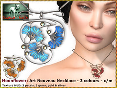 Bliensen - Moonflower - Art Nouveau Necklace