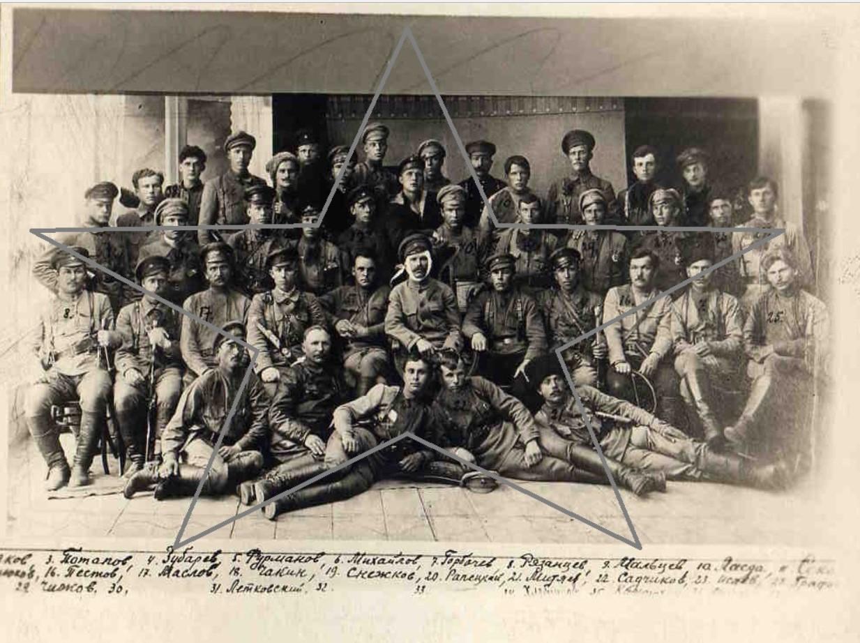 1919. Группа командиров и комиссаров 25 СД, взявшей г.Уфу